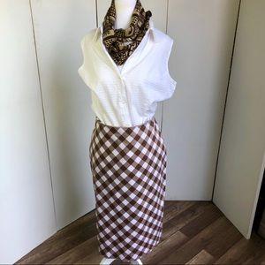 New Skirt Brown/White checks